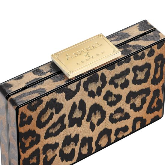 Scarlett Box Clutch in Digital Leopard Print from Aspinal of London