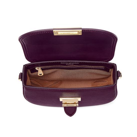 Portobello Bag in Grape Saffiano from Aspinal of London