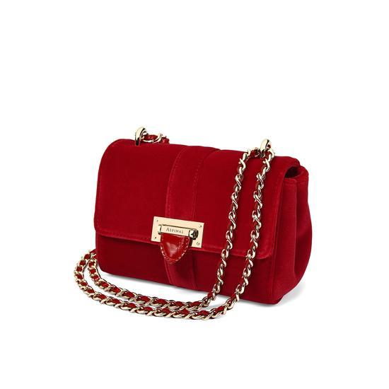 Micro Lottie Bag in Scarlet Velvet from Aspinal of London