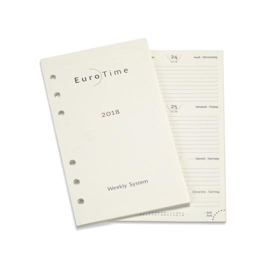 2018 Diary Insert for Executive Personal Organiser from Aspinal of London