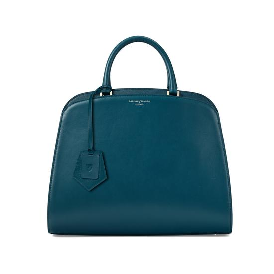 Hepburn Bag in Smooth Peacock from Aspinal of London