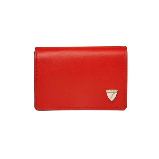 Accordion Credit Card Holder in Smooth Scarlet from Aspinal of London