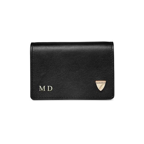 Accordion Credit Card Holder in Smooth Black from Aspinal of London