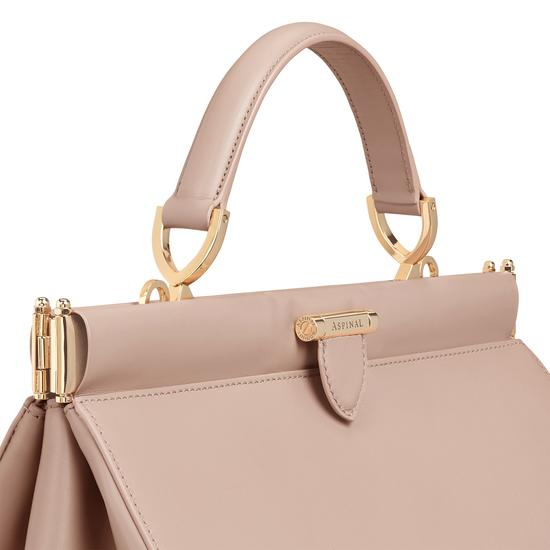 Large Florence Frame Bag in Smooth Soft Taupe from Aspinal of London