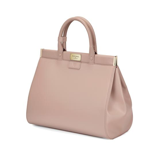 Large Florence Snap Bag in Smooth Soft Taupe from Aspinal of London