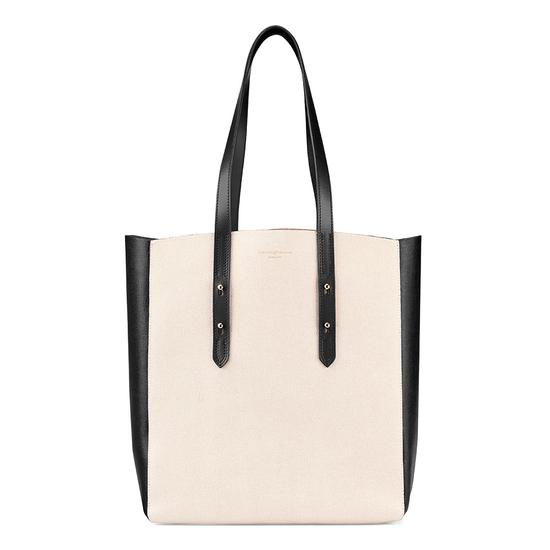 Aspinal Essential Tote in Monochrome Mix & Black Suede from Aspinal of London