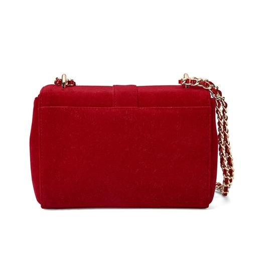Small Lottie Bag in Scarlet Velvet from Aspinal of London