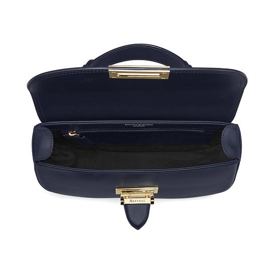 Letterbox Saddle Bag in Smooth Navy from Aspinal of London