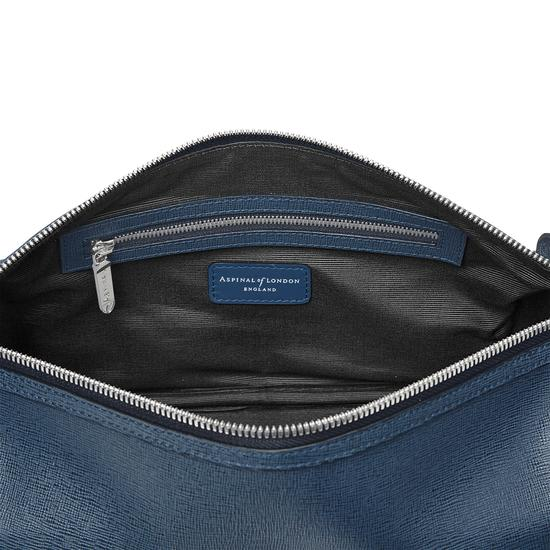 Men's Leather Wash Bag in Teal Saffiano from Aspinal of London