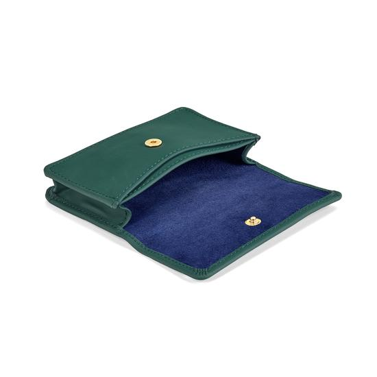 Business & Credit Card Case in Smooth Green from Aspinal of London