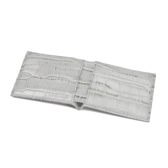 Billfold Wallet in Dove Grey Croc from Aspinal of London