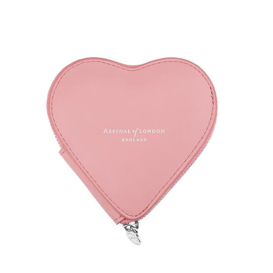 Heart Coin Purse in Smooth Dusky Pink from Aspinal of London