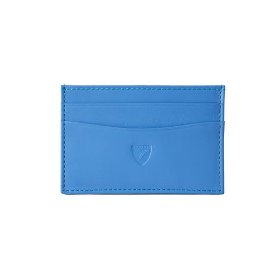 Slim Credit Card Case in Smooth Forget Me Not from Aspinal of London