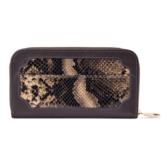 Marylebone Purse in Tan Snake from Aspinal of London