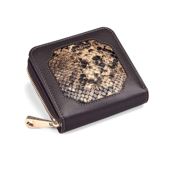 Marylebone Mini Purse in Tan Snake from Aspinal of London