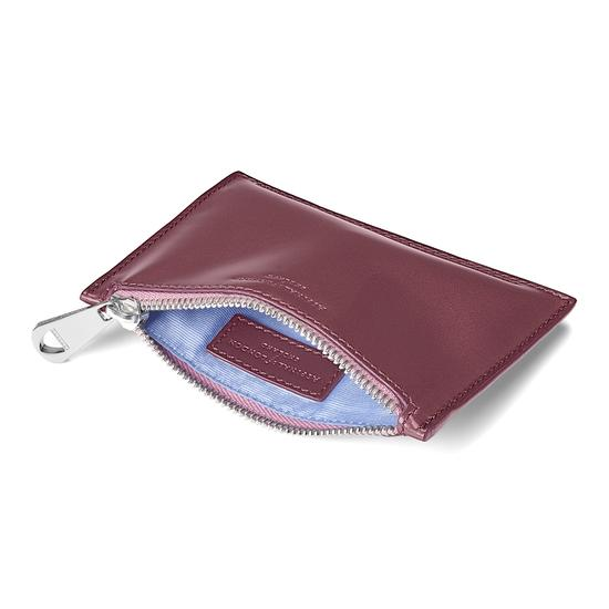 Small Essential Flat Pouch in Dragonfly Patent from Aspinal of London