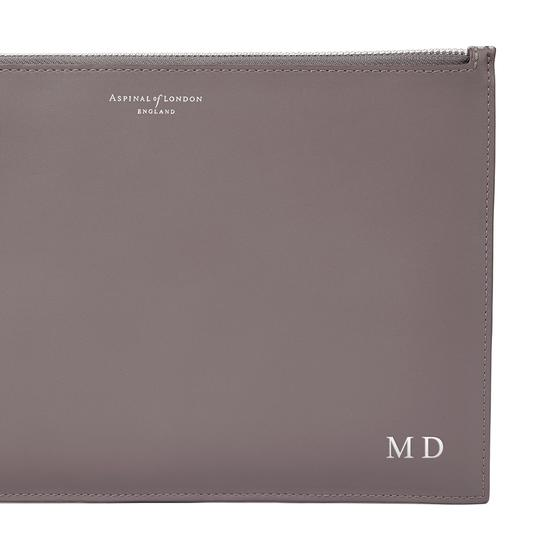 Large Essential Flat Pouch in Flamingo Metallic from Aspinal of London