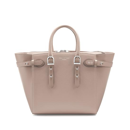 Midi Marylebone Tech Tote in Soft Taupe Pebble from Aspinal of London