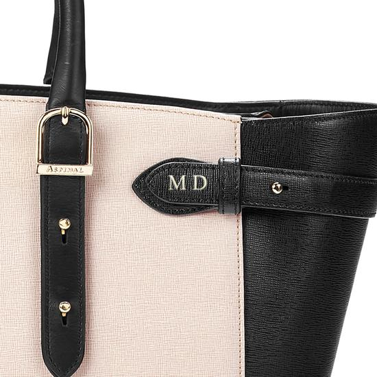 Midi Marylebone Tech Tote in Monochrome Mix from Aspinal of London