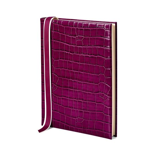 Portrait Photo Album (30 Pages) in Purple Croc from Aspinal of London