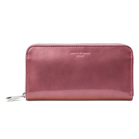 Continental Clutch Zip Wallet in Dragonfly Patent from Aspinal of London