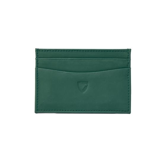 Slim Credit Card Case in Smooth Green from Aspinal of London