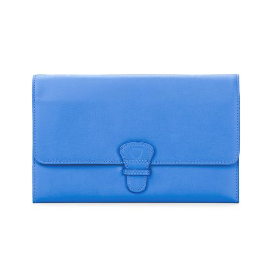 Classic Travel Wallet in Smooth Forget Me Not from Aspinal of London