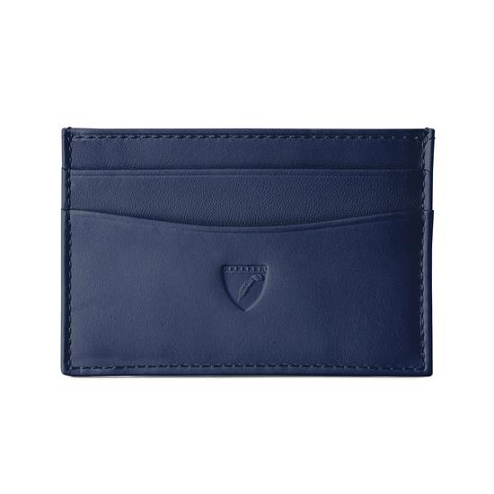 Slim Credit Card Case in Smooth Navy Nappa from Aspinal of London