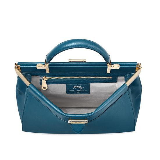 Small Florence Frame Bag in Peacock Kaviar from Aspinal of London