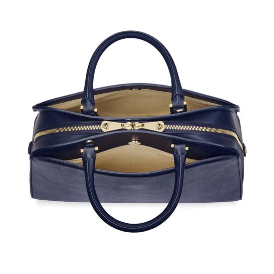 Hepburn Bag in Midnight Blue Lizard from Aspinal of London