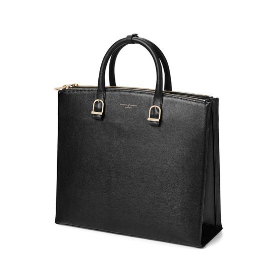 Editor's Tote in Black Saffiano from Aspinal of London