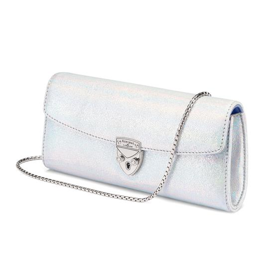 Mini Eaton Clutch in Silver Shooting Star from Aspinal of London