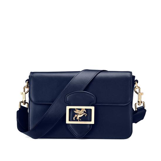 Pegasus Shoulder Bag in Blue Moon Polish from Aspinal of London
