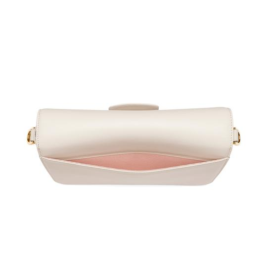Pegasus Shoulder Bag in Smooth Ivory from Aspinal of London