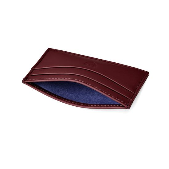 Slim Credit Card Case in Smooth Bordeaux from Aspinal of London