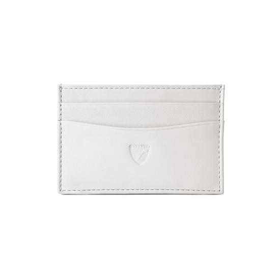 Slim Credit Card Case in Smooth Ivory from Aspinal of London