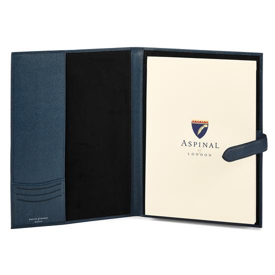 A4 Padfolio in Teal Saffiano from Aspinal of London