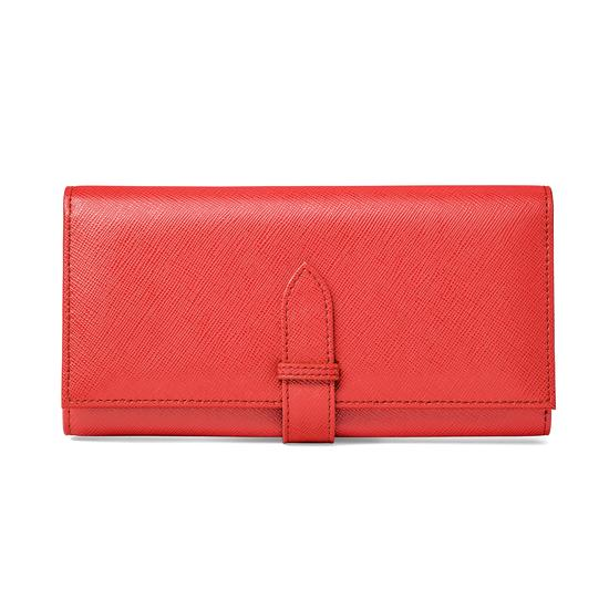 London Ladies Purse Wallet in Dahlia Saffiano from Aspinal of London