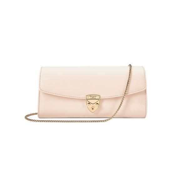 Mini Eaton Clutch in Deep Shine Nude Patent from Aspinal of London