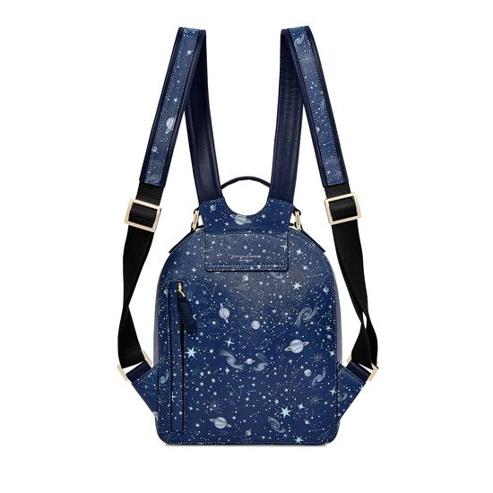 Pegasus Backpack in Navy Pegasus & Constellation Print from Aspinal of London