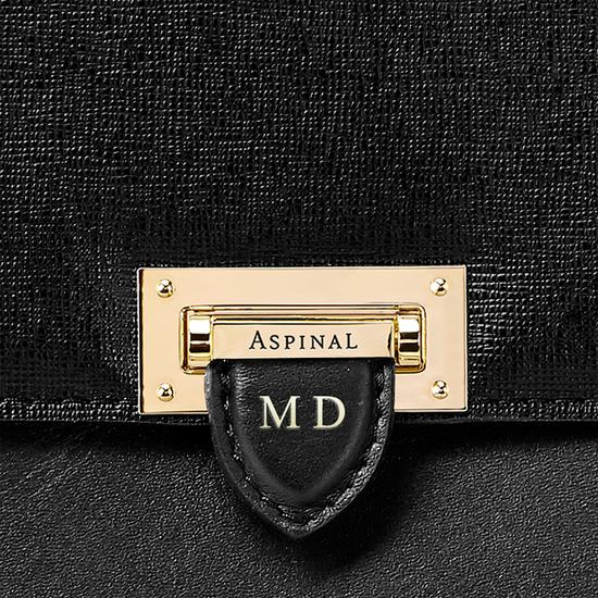 City Document Case in Black Saffiano from Aspinal of London
