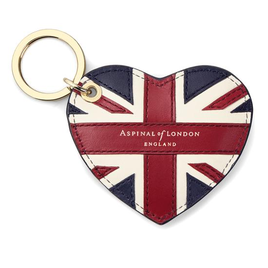 Brit Heart Keyring from Aspinal of London