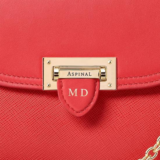 Portobello Bag in Dahlia Saffiano from Aspinal of London