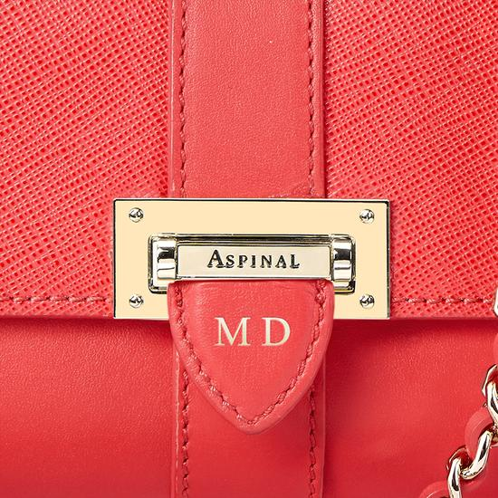 Micro Lottie Bag in Dahlia Saffiano from Aspinal of London