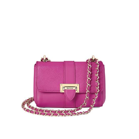 Micro Lottie Bag in Orchid Saffiano from Aspinal of London