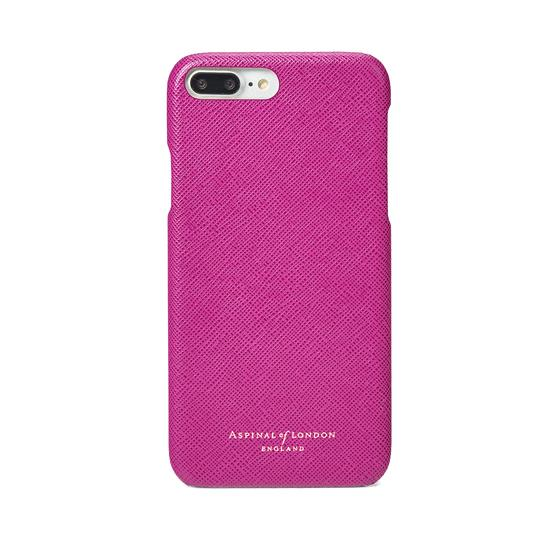 iPhone 7 Plus Leather Cover in Orchid Saffiano from Aspinal of London