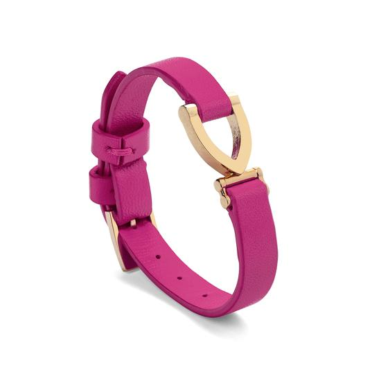 Stirrup Bracelet in Smooth Orchid from Aspinal of London