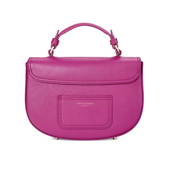 Letterbox Saddle Bag in Orchid Saffiano from Aspinal of London