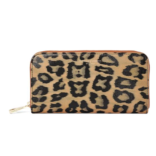 Continental Clutch Zip Wallet in Leopard Print from Aspinal of London