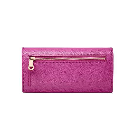 Lottie Purse in Orchid Saffiano from Aspinal of London